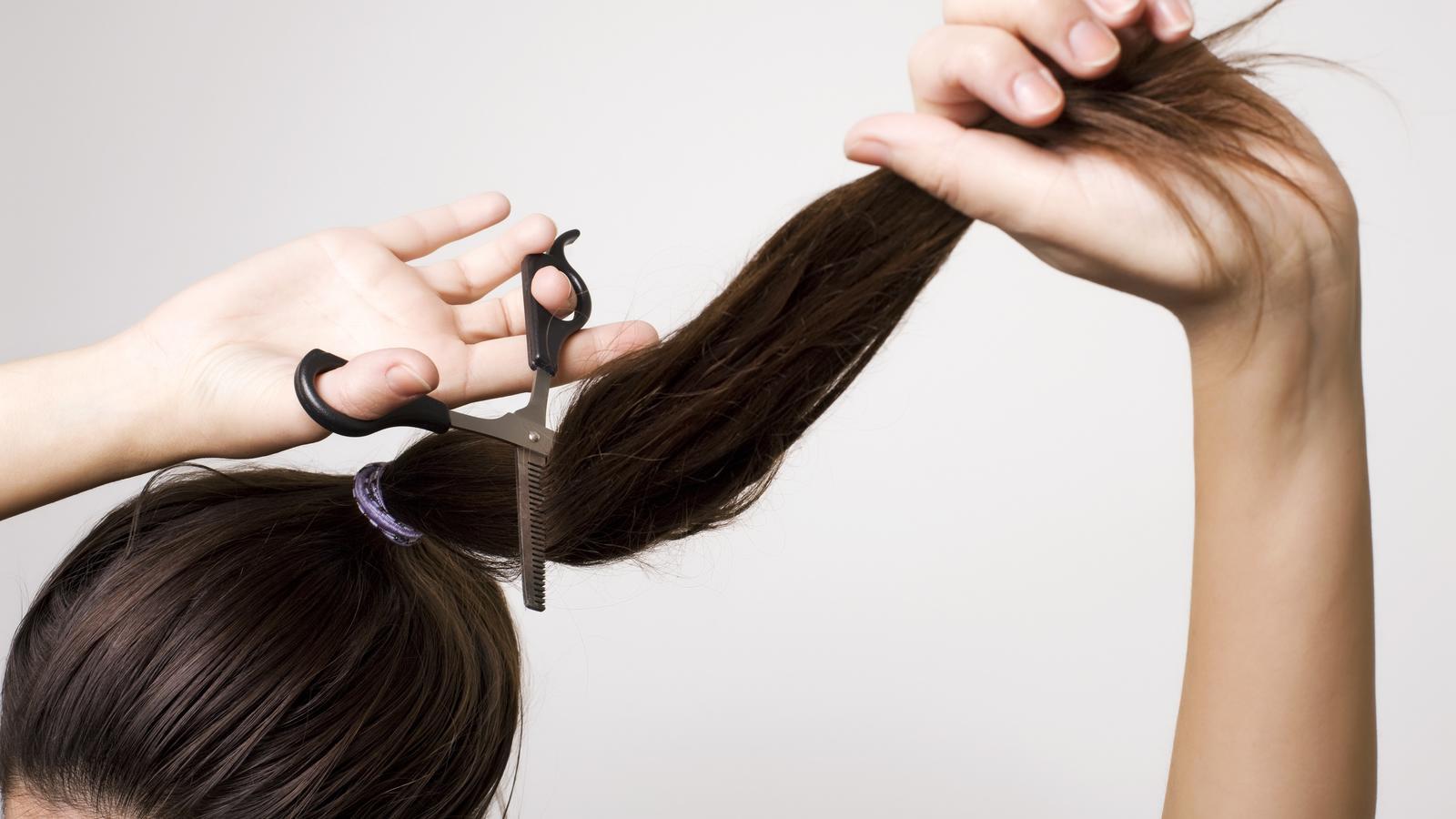 Selber Haare Schneiden Mit Dem Zopf Schnitt Gelingt Die Stufenfrisur
