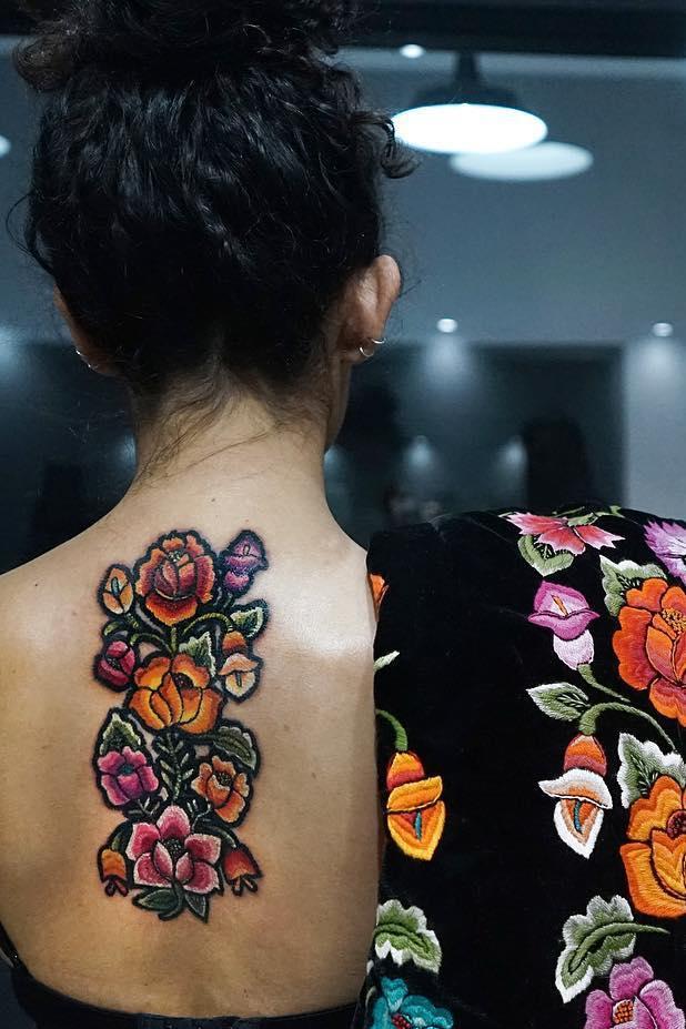 Embroidery Tattoos Dieser Neue Stil Ist Mega Angesagt Und Sooo Schon