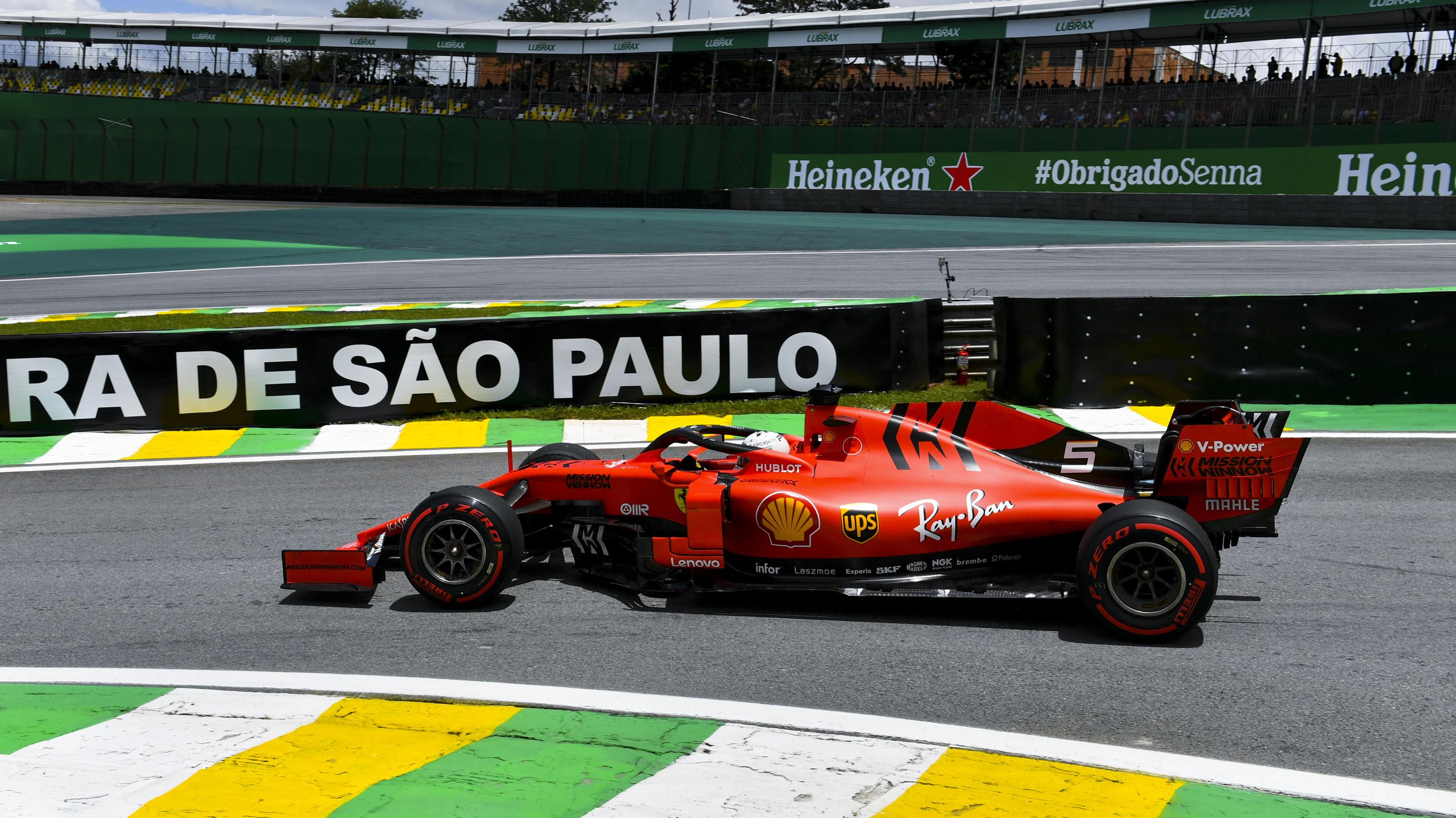 Trotz Ferrari-Topspeed: Lewis Hamilton distanziert kurvenlahmen Sebastian Vettel im 3. Training zum Brasilien-GP - RTL Online