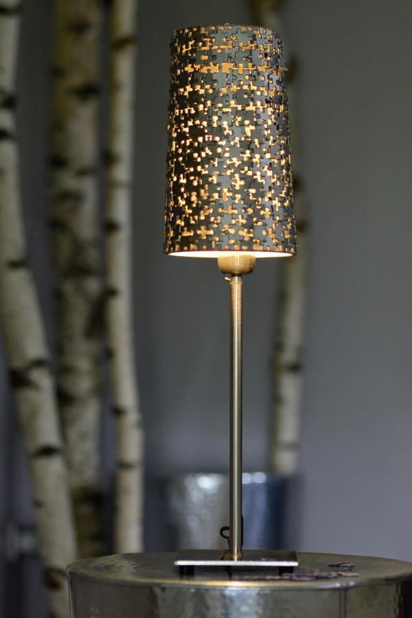 Lampenschirm Verschonern Puzzlelampe Einfach Selber Machen