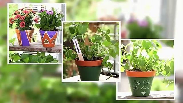 Tontopfe Bemalen 3 Ideen Um Ihren Alten Blumentopf In Ein