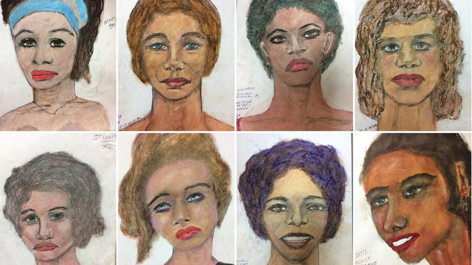 Serienmörder Samuel Little malt Porträts seiner Opfer ...