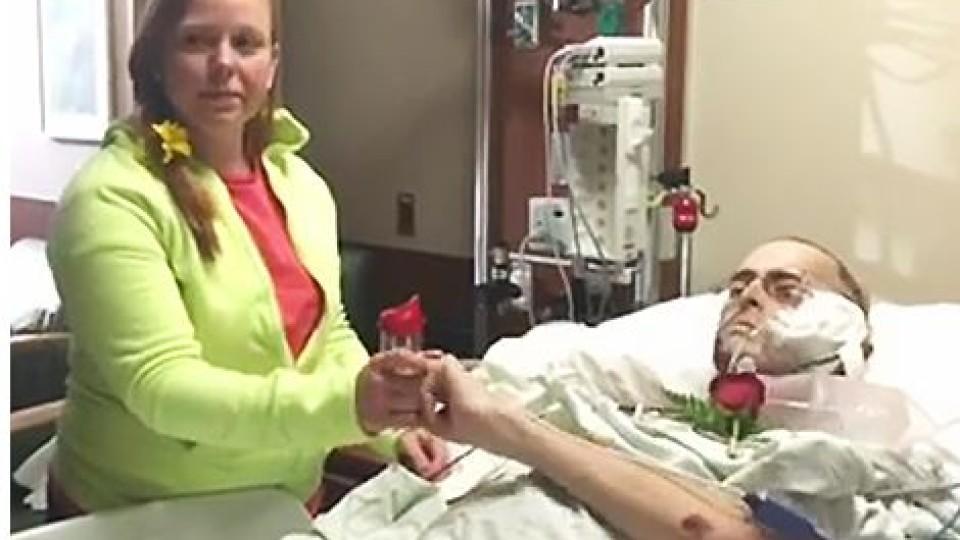 Hochzeit am Krankenbett: Caleb hat Krebs im Endstadium