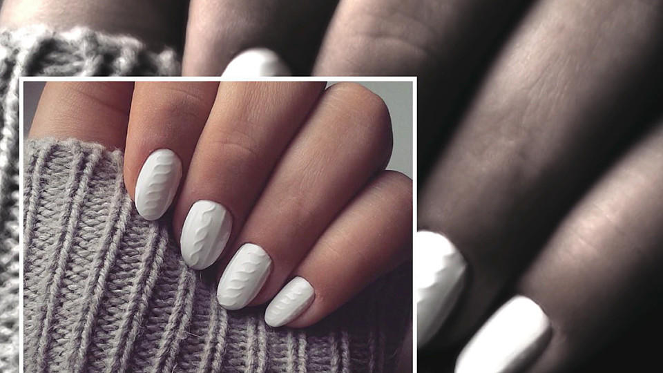 Naildesign Trend Knit Nails Fingernagel Wie Gestrickt
