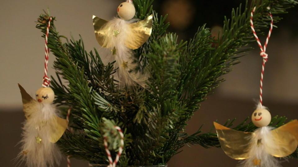 weihnachtsengel basteln baumschmuck selber machen